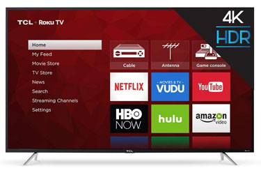 TCL 65S405 65-Inch 4K Ultra HD Roku Smart LED TV (2017 Model)